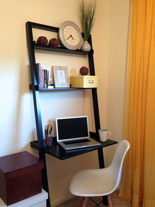 Cozy Office Nook On Ladder Desk In Bedroom Part 92