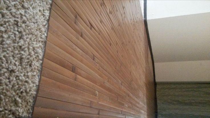 8' x 4' bamboo wall panels make great flooring over carpet.