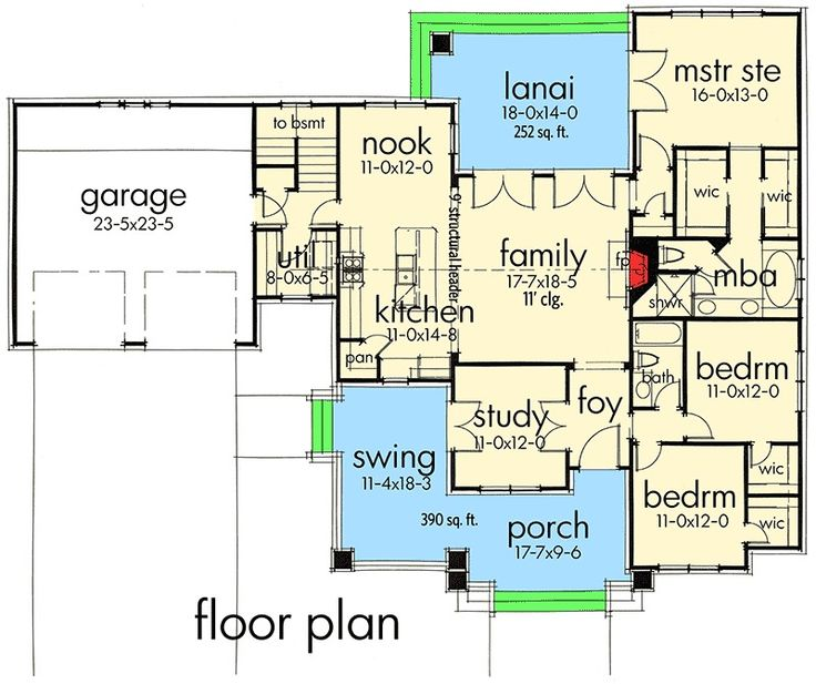 Plan 16887WG  3 Bedroom House Plan With Swing Porch. 17 Best ideas about 3 Bedroom House on Pinterest   House floor