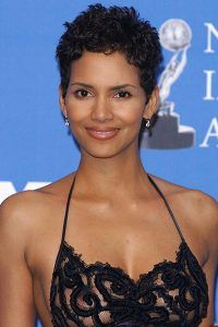 Halle-Berry-Short-curls-Hairstyle