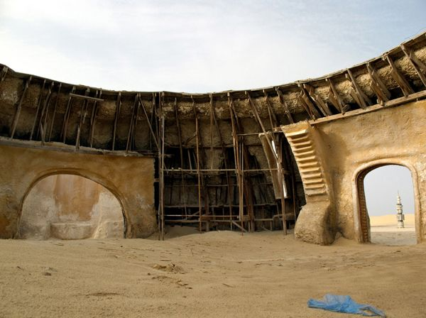Star Wars Tatooine set in Tunisian desert will eventually be swallowed by sand. Description from pinterest.com. I searched for this on bing.com/images