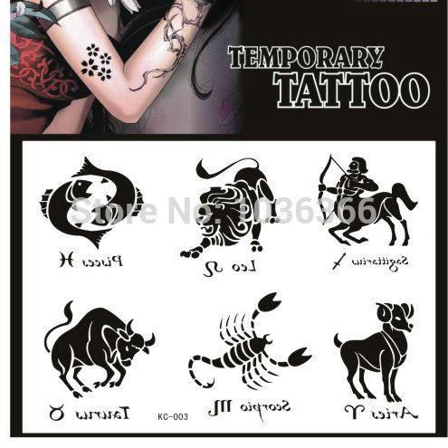 Унисекс сексуальный продукты созвездие компактный временный татуировки наклейки водонепроницаемый поддельные спрей передачи тело искусство макияж