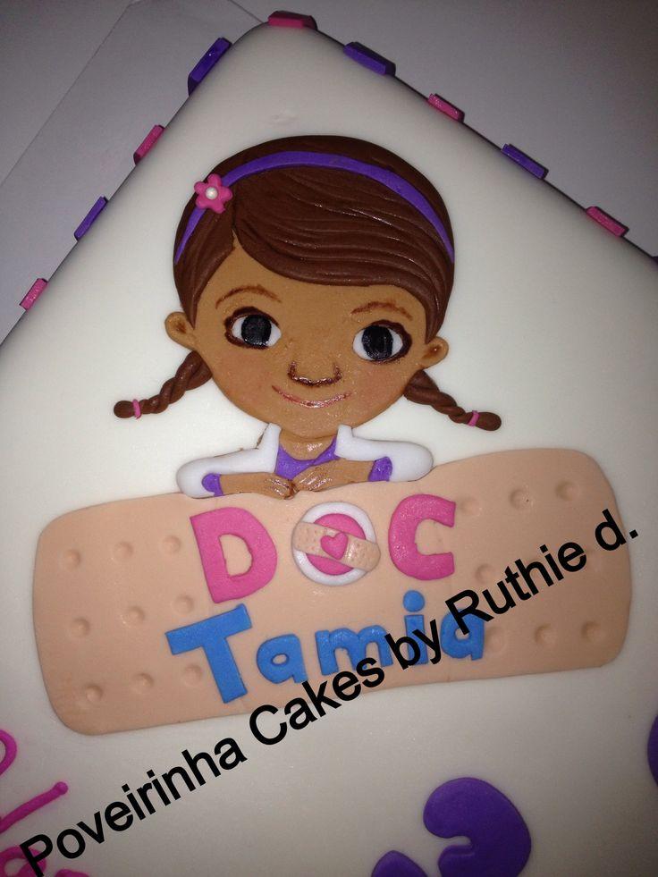 Doc McStuffins cake topper, 2D fondant face and bandage ...