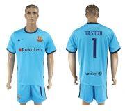 Barcelona FC 17-18 Away soccer kits 27