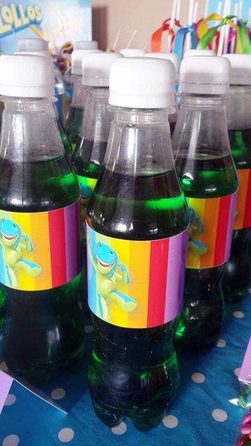Green Cooldrink Bottles with Lollos Labels