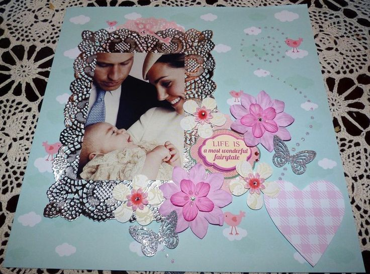 """SCRAPBOOK PAGE """"LIFE IS THE MOST WONDERFUL FAIRYTALE""""....HUGE SALE"""