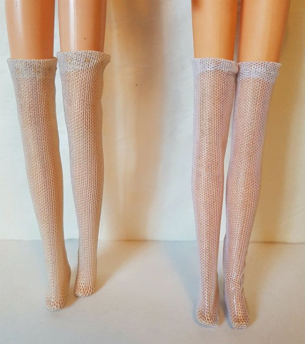 Thigh-High STOCKINGS Lot of 2 pairs for Francie, Casey, Twiggy Repro Vintage #2 #dolls4emma #stockings