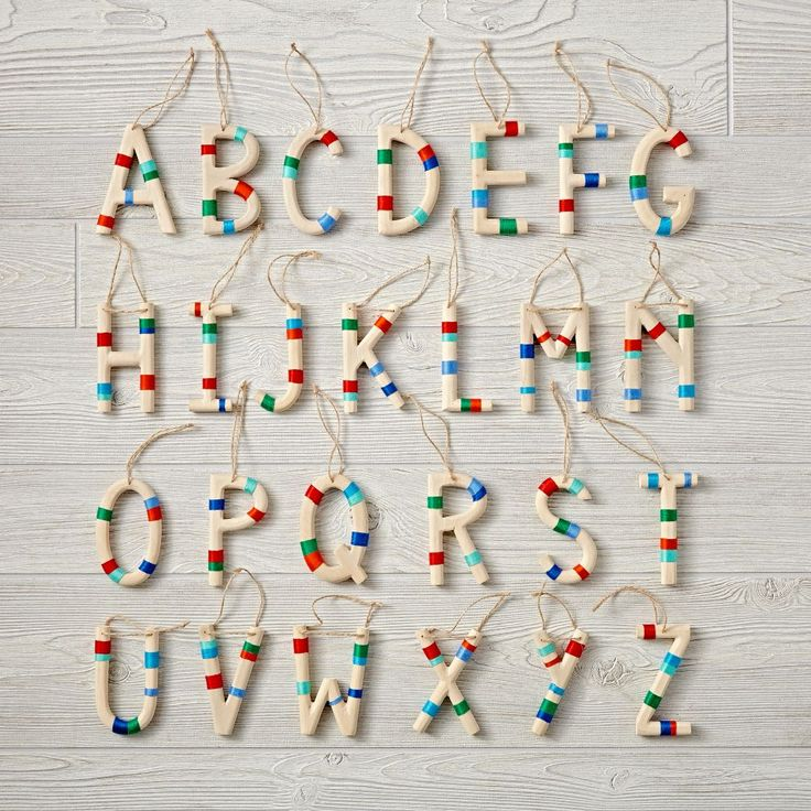 Shop Wooden Letter Ornaments. Add a pop of color to the ...