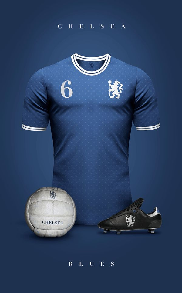 uniformes clubs futbol vintage chelsea