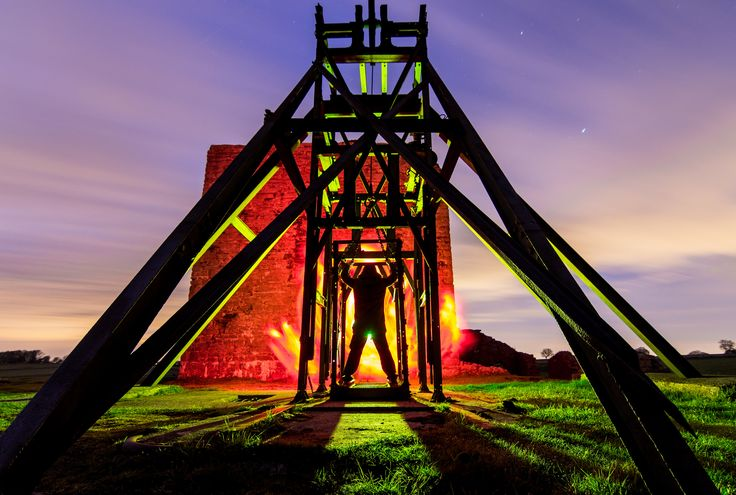 https://flic.kr/p/sDAUCZ | Shaft. | Magpie Mine illuminated by gelled flash gun and a touch of the old net curtains.  That's about that really.   Cracking night and can't wait to get back under Crystal clear skies.
