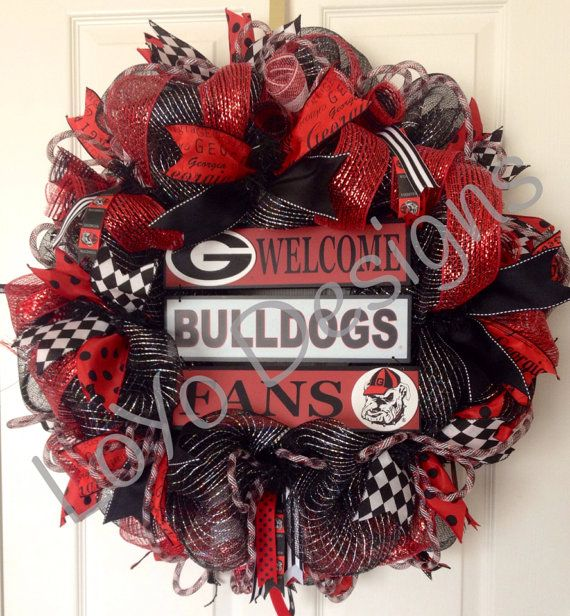 CUSTOM ORDER University of Georgia Wreath by LoYoDesigns on Etsy