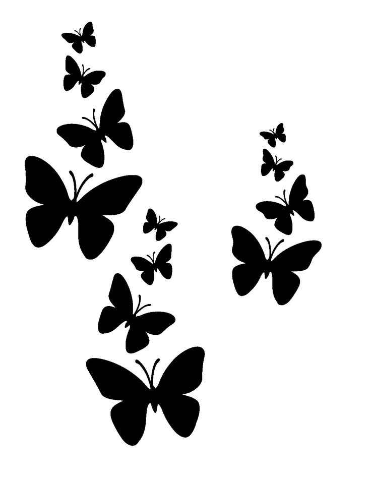 Butterfly Motif Stencil -   I used this pattern on the wall for my Oscean - Of course there is a combination, of pink, black & white butterflys