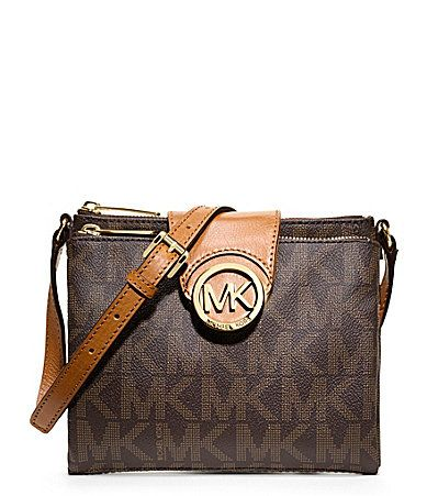 MICHAEL Michael Kors Signature Fulton Large CrossBody Bag #Dillards