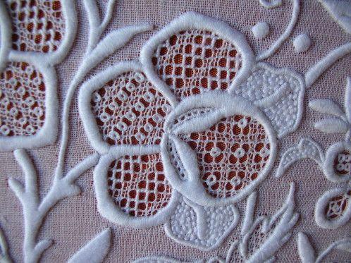 Beautiful whitework embroidery!