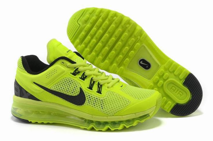 New Nike Air Max+ 2013 Running For Mens Nero Green Shoes
