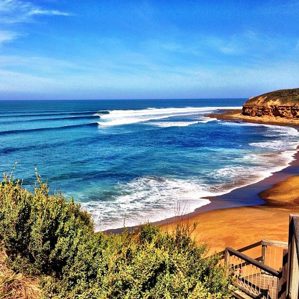 Bells Beach, Australia. I wanna go here someday too :D