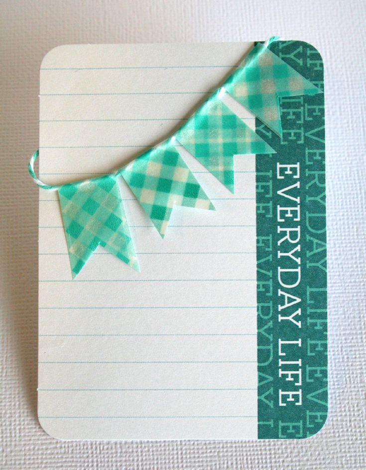 Cute idea! Journal card with Washi tape.