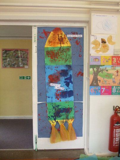 Rocket Display, classroom display, class display, Space, planet, planets, Sun, moon, stars, rocket,art, paint,Early Years (EYFS), KS1&KS2 Primary Resources