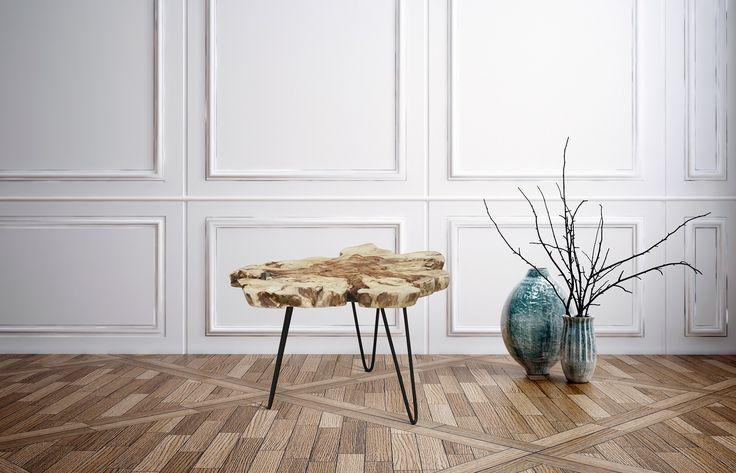 Rustikke Sofaborde i Naturtræ - Rod Bord