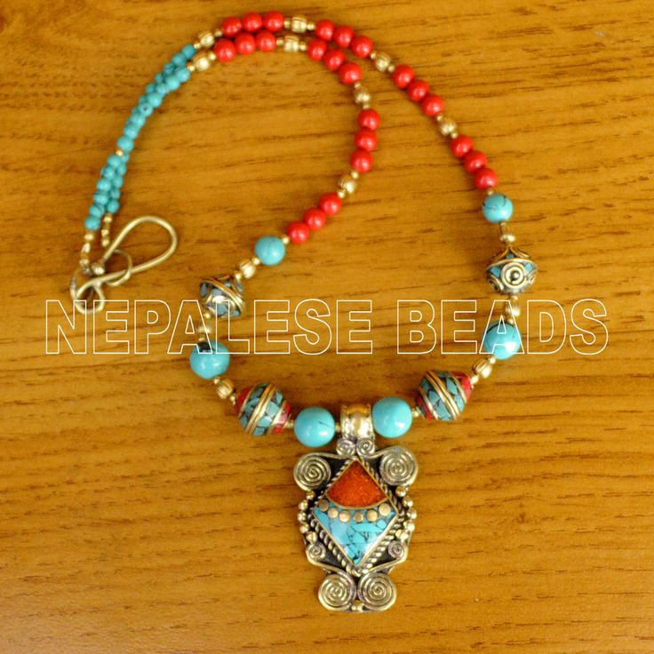 367 best jewelry tibetan 1 images on pinterest nepal ethnic diya07 nepalese tibetan turquoise coral brass do it yourself necklace diy kit eksha doityourselfnecklaces solutioingenieria Images