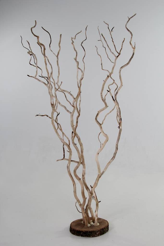 Wensbomen & Bloemenbogen : Wensboom brocant 5 vertakkingen met voet 1.20m