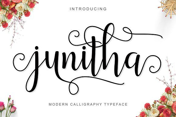 NEW! Junitha Script by Bexxtype on @creativemarket