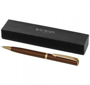 Promotional Balmain Pen, Hercule Lacquered Ballpoint Pen, Brown