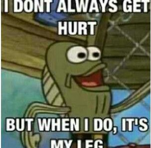 "The guy that always says ""ah my leg!"" In spongebob episodes"