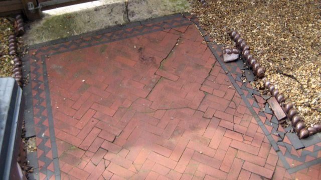 victorian floors | ... Mosaic's installation gallery - Victorian Herringbone Path Tiles