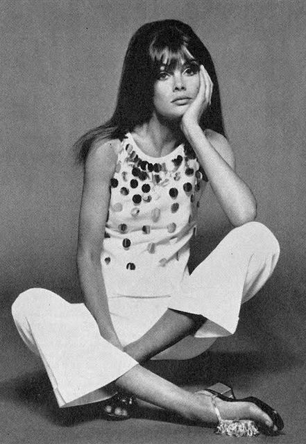 Jean Shrimpton photographed by David Bailey, 1966.