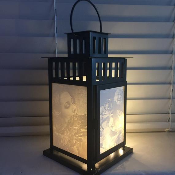 Personalised 3d Printed Lithophane Large Candle Light Etsy Large Candles Large Lanterns Candlelight