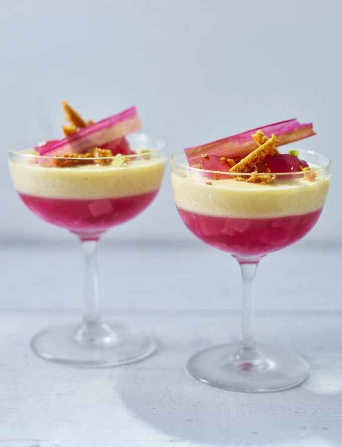 Rhubarb and custard is a quintessentially British pudding - but here's Raymond Blanc's fancy French twist