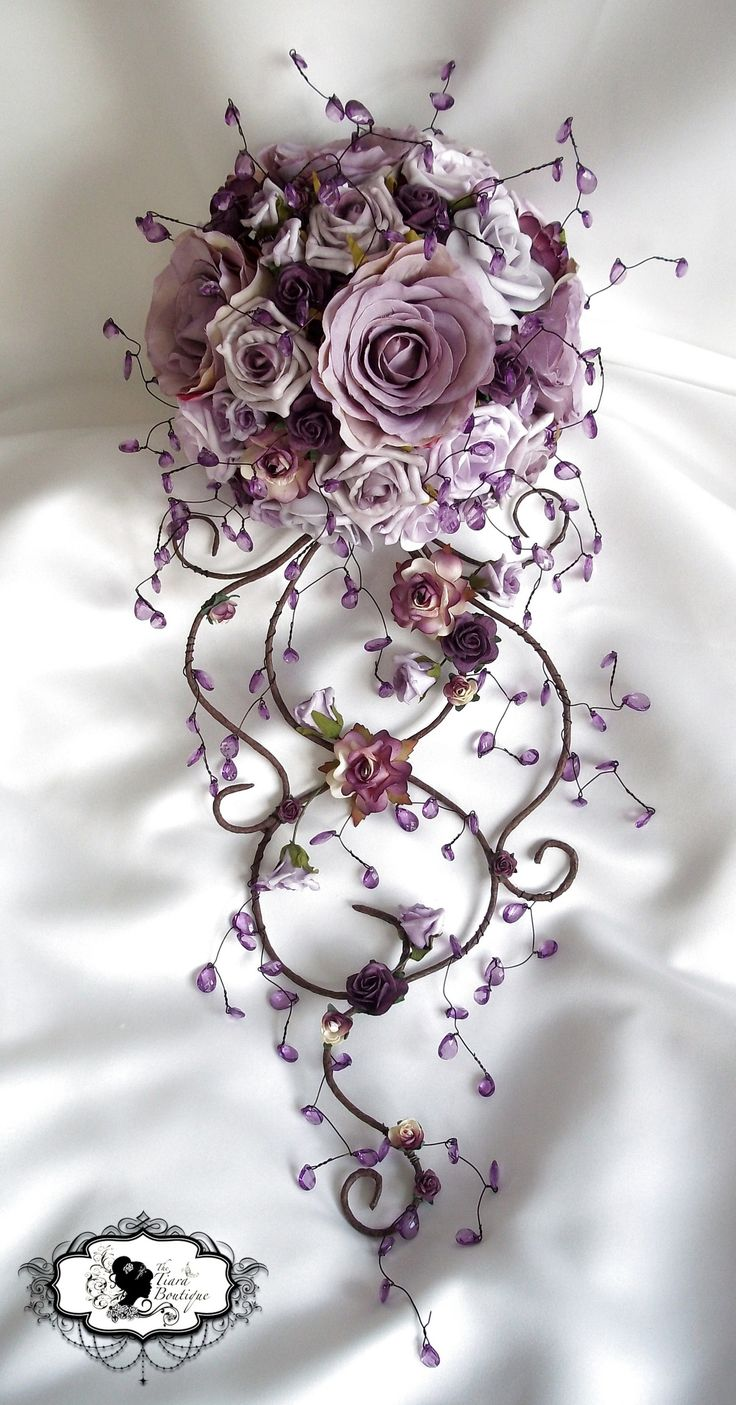 Unique Bridal Flower Bouquets : Best silk flowers ideas on fabric roses