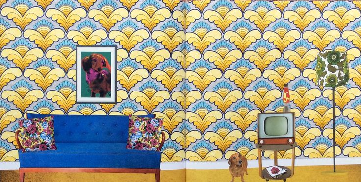 Wallpaper Book. The Year is 1968. Coloured by Prue.