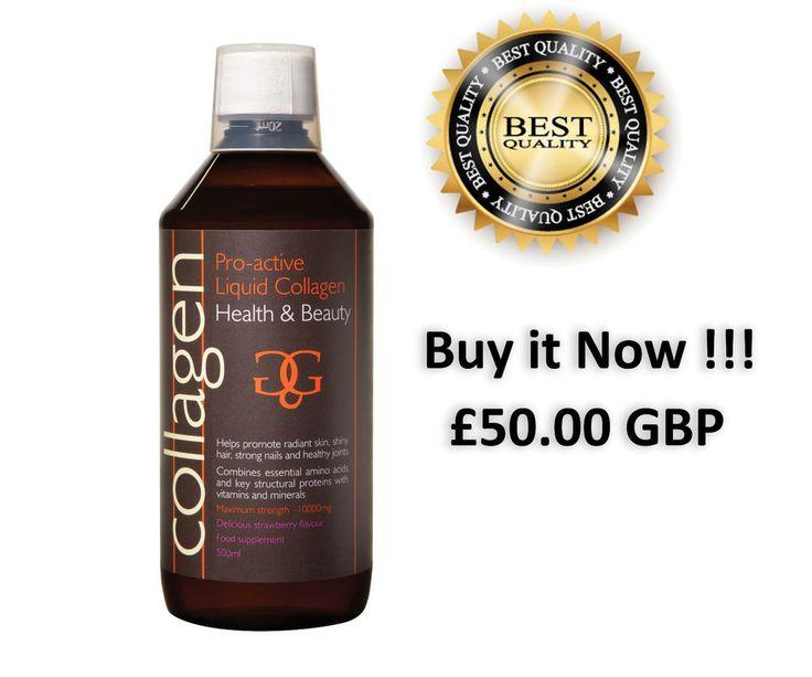 Collagen PRO Active Liquid Drinkable 500ml Lemon/Strawberry NEW SEALED