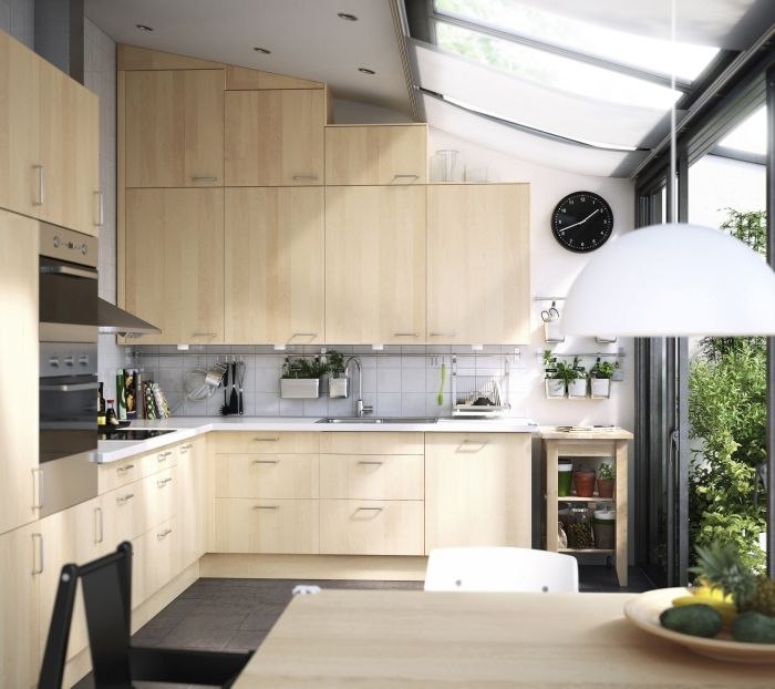 Ikea Kitchen Wood Cabinets: Ikea Nexus Birch Kitchen.... Love It!