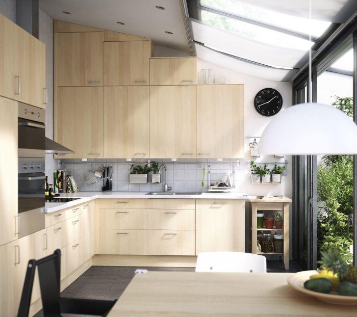 Birch Kitchen Cabinets: Ikea Nexus Birch Kitchen.... Love It!