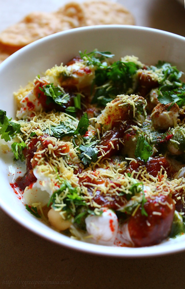 papri-chaat - probably my favorite thing to order at an indian restaurant. can't wait to make this (and to visit mumbai)