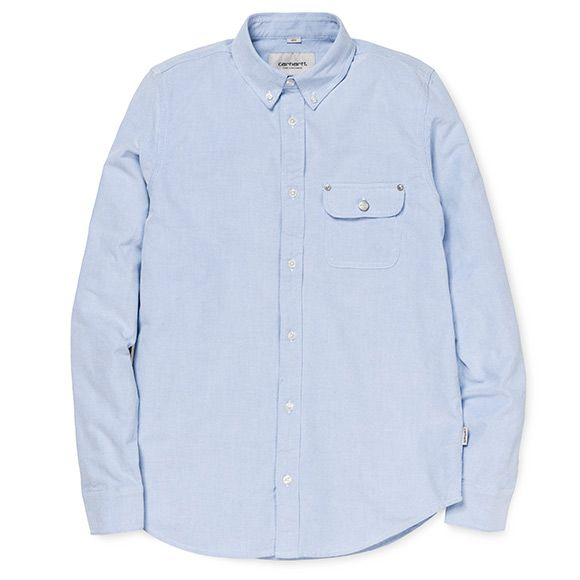 Carhartt WIP Perry Shirt - Columbia / Black (Rinsed)