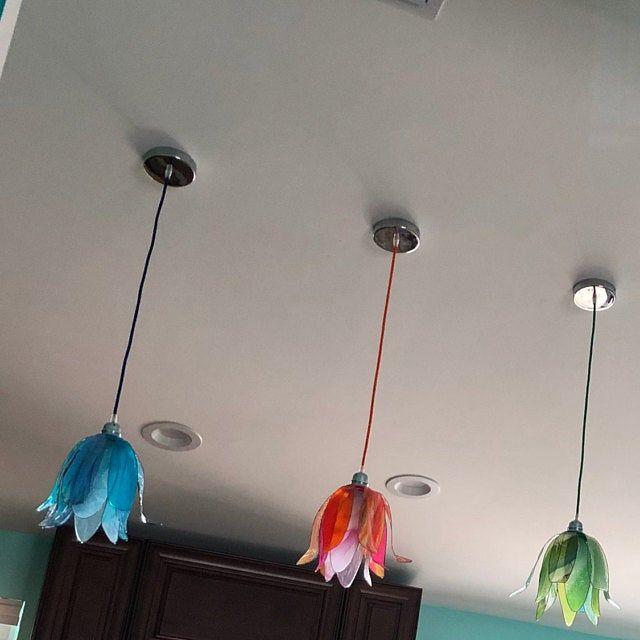 Table Or Desk Lamp Gentian Flower Single Piece Shipping Free In 2020 Lamp Pendant Lamp Flower Lamp