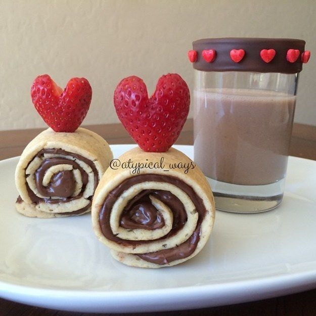 Strawberry And Nutella Pancake Roll Ups | 23 Pinwheel Snacks That Taste As Good As They Look