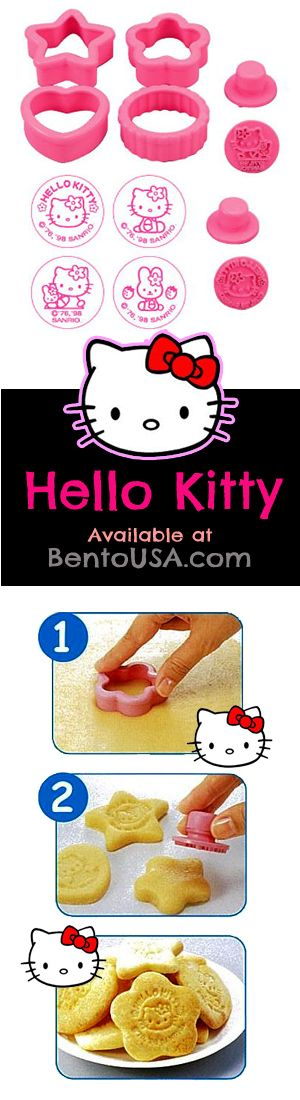 Hello Kitty Cookie Cutter Pastry Mold for birthday #party #Lunch & #dessert