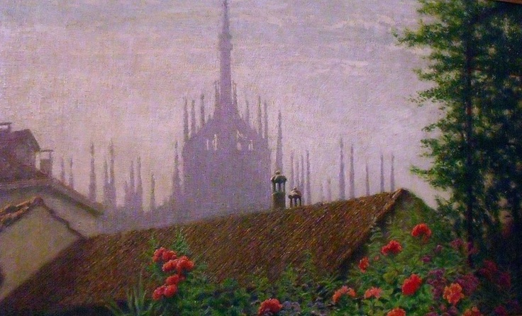 Angelo Morbelli, The Spires of Milan Cathedral (c. 1915)