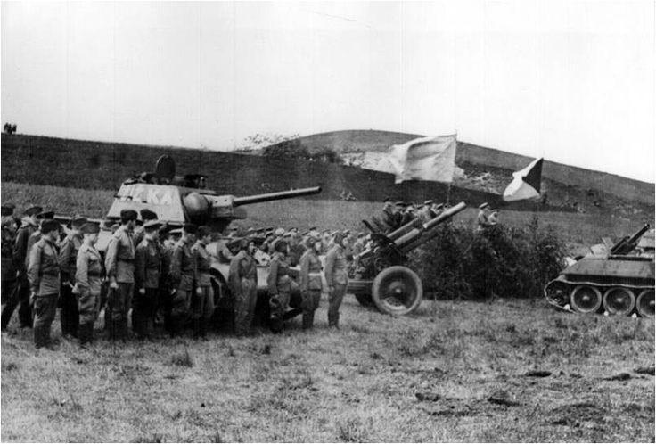 Preparation of the Czechoslovak and Soviet troops in Głojsce