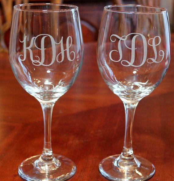 17 Best Ideas About Monogram Wine Glasses On Pinterest