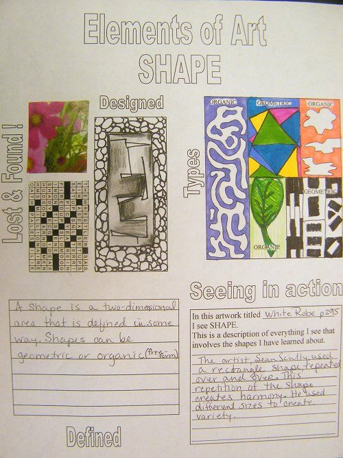 Elements And Principles Of Design Shape : Shape elements and principles of art design