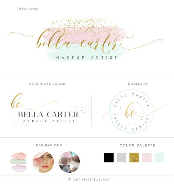 Premade Branding Kit Photography Logo Set by CutiexoTreasures