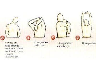 Faça alongamentos de braços