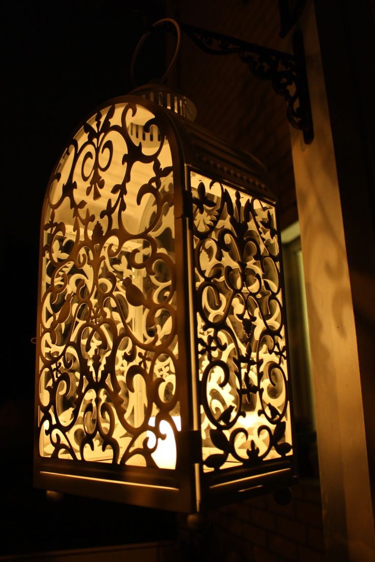 ..tältä näyttää Ikean lyhty pimeässä :)