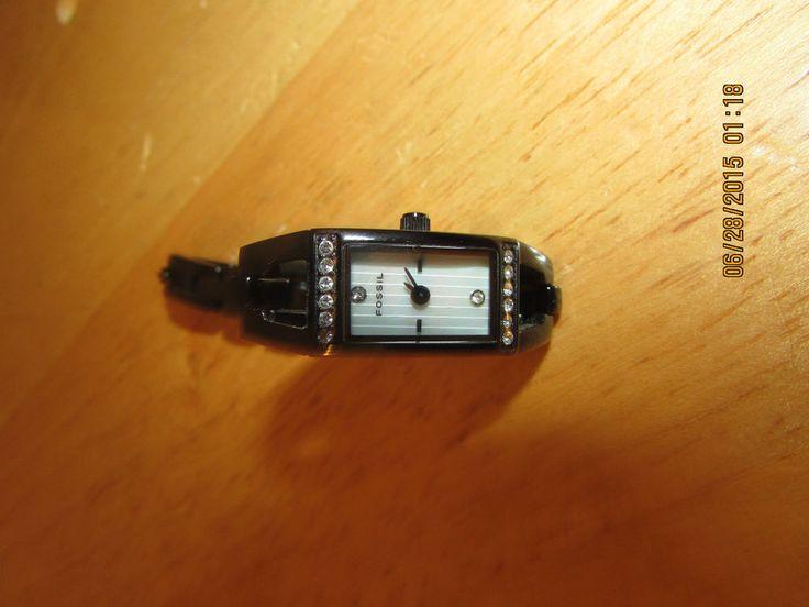 Women's Fossil Watch Metallic Black ES-1729 110610 #fossil #Casual